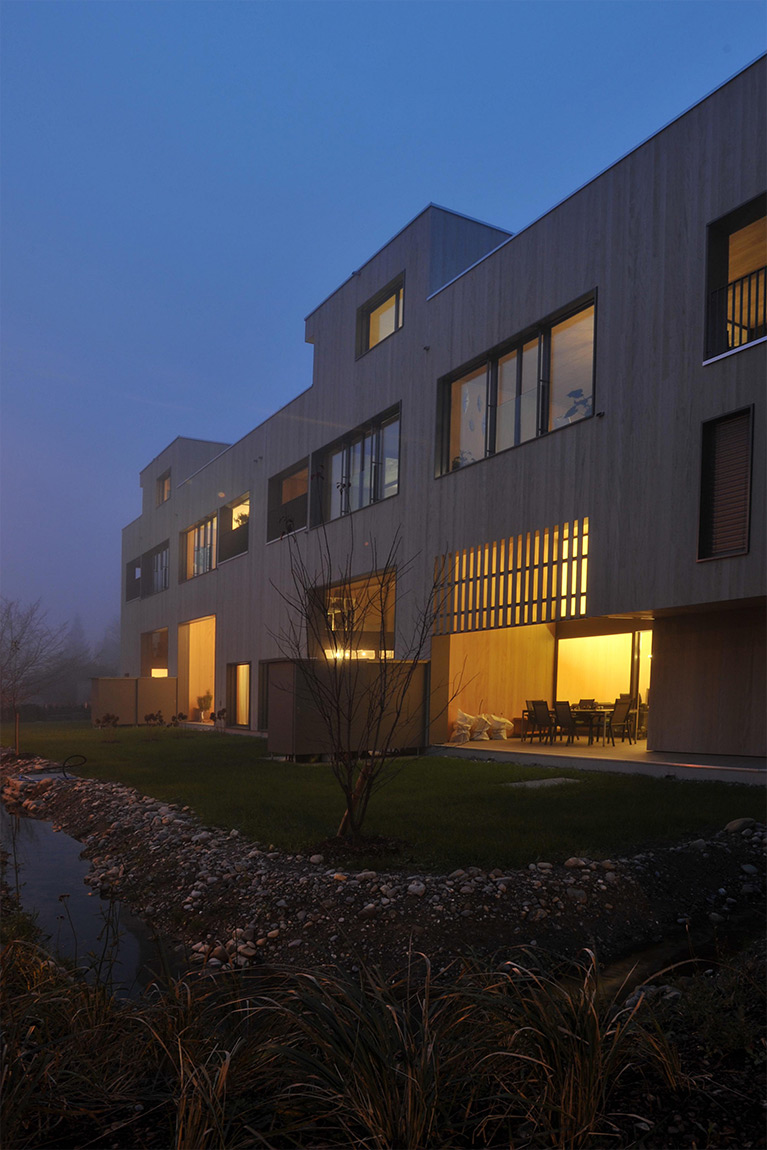 eden am bach, exterior view, night