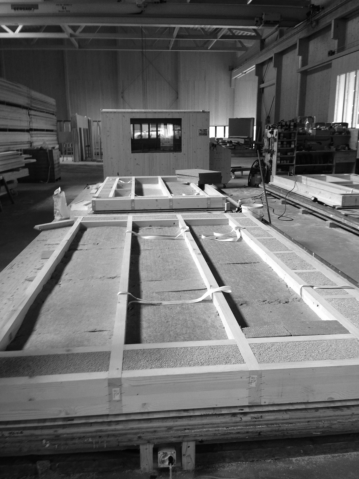 eden am bach, wooden construction elements in production