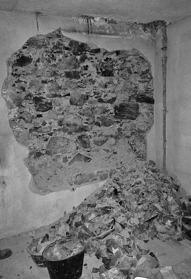 Bruchsteinwand