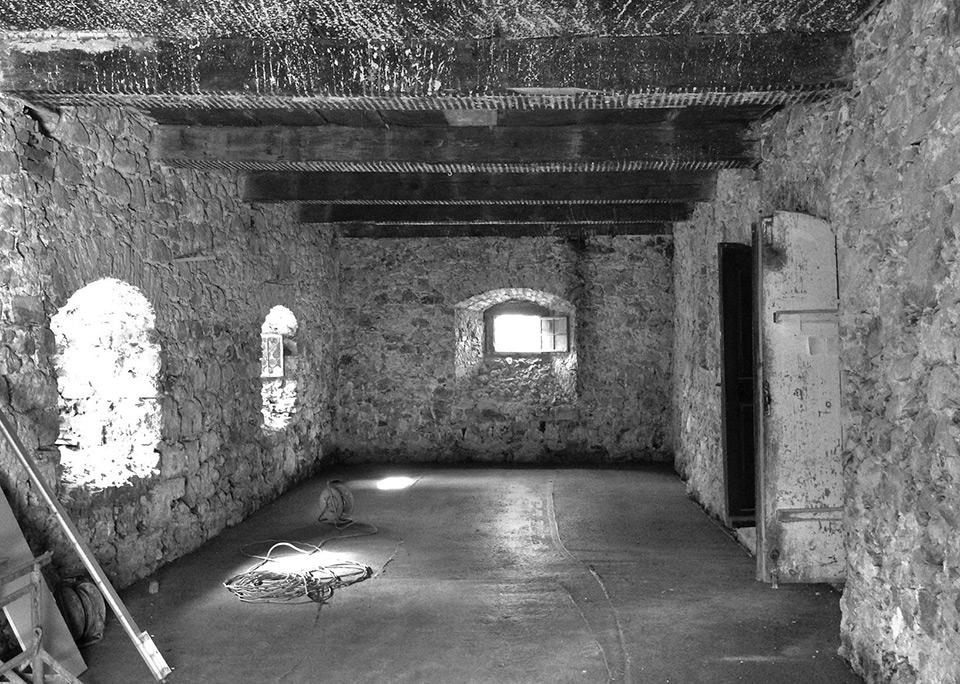 Das Kellergewölbe im Rohzustand