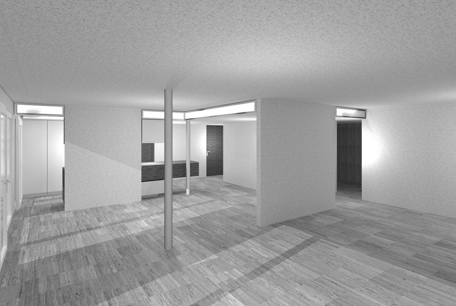 post-stucky, rendering of living space
